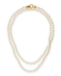 Elizabeth Locke Serena Long Pearl Necklace 35
