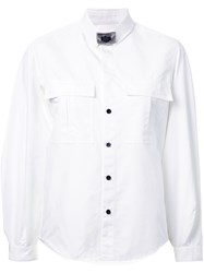 Toga Buckled Collar Shirt White