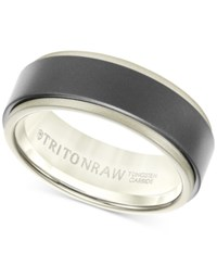 Macy's Triton Raw Men's Band In Tungsten And 18K White Yellow Or Rose Gold