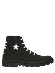 Givenchy Olympus Cotton Canvas Lace Up Boots
