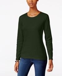 Styleandco. Style Co. Crew Neck Top Only At Macy's Dark Ivy