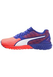 Puma Ignite Dual Cushioned Running Shoes Red Blast Royal Blue Coral