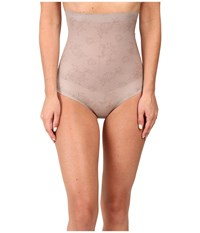 Spanx Pretty Smart High Waisted Brief Lace Taupe Women's Underwear