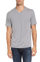 Travis Mathew Men's 'Uncle Bob 2.0' Solid Stretch V Neck T Shirt Heather Griffin