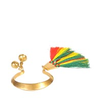 Chloe Janis Tassels And Brass Cuff
