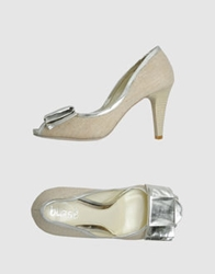 Blase' Pumps With Open Toe Silver