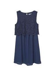 Mango Lace Top Gown Navy