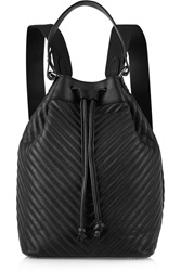 Iris And Ink Ruby Chevron Quilted Leather Backpack Black