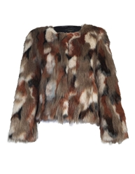 Aftershock Robyn Faux Fur Jacket Brown