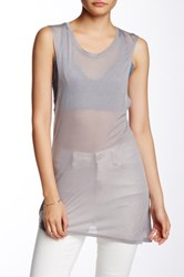Candc California Kaylee Asymmetric Muscle Tank Gray