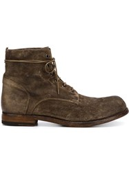 Officine Creative 'Bubble' Lace Up Boots Brown