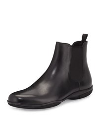 Prada Rubber Sole Chelsea Boot Black