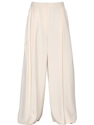 Sportmax Wide Leg Viscose Twill Pants