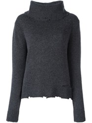 Rta Cowl Neck Jumper Grey