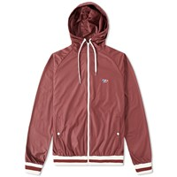 Maison Kitsune Tricolour Fox Windbreaker Burgundy