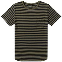 Nonnative Dweller Stripe Tee Green