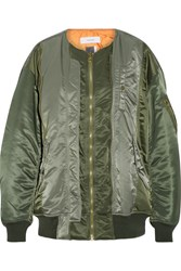 Facetasm Shell Bomber Jacket Army Green
