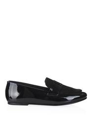 Newbark Claude Patent Leather And Suede Loafers