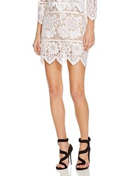 For Love And Lemons Scallop Lace Mini Skirt White