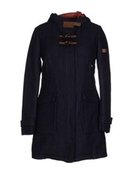 Piquadro Down Jackets Dark Blue