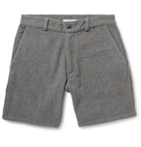 The Elder Statesman Cashmere Shorts Gray