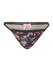 Gossard Vip Iris Floral Thong Multi Coloured