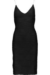 Opening Ceremony Wavy Textured Stretch Knit Dress Black