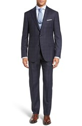 Pal Zileri Men's Classic Fit Plaid Wool Suit
