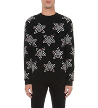 Just Cavalli Star Print Wool Jumper Black Variant