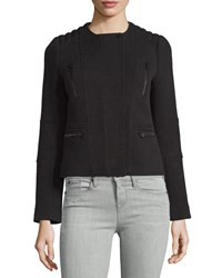 Vince Wool Blend Moto Jacket Black