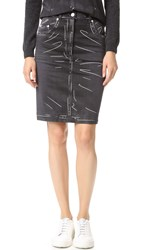 Moschino Denim Skirt Black