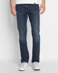 Carhartt Faded Dark Natural Blue Rebel Spicer Tapered Fit Stretch Slim Jeans