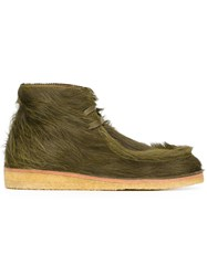 Tomas Maier Lace Up Hi Top Shoes Green