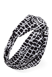 Forever 21 Knotted Windowpane Headwrap