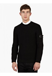 Stone Island Black Chunky Knitted Sweater