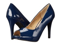 Rsvp Spencer Peep Toe Pump Navy Patent High Heels Blue