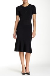 Yigal Azrouel Short Sleeve Knit Dress Black