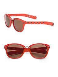 Rebecca Minkoff Hudson 57Mm Cat Eye Sunglasses Red