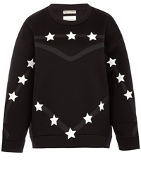 Each X Other Black Heart Outline Star Sweatshirt