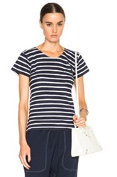 Nlst Pocket Tee In Stripes Blue
