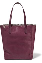 Stella Mccartney The Falabella Faux Brushed Leather Tote Plum