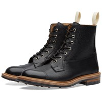 Trickers End. X Tricker's Allan Toe Cap Boot Black