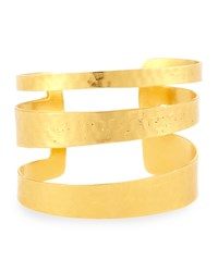Hammered Cutout Cuff Bracelet Gold Devon Leigh