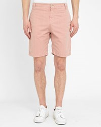 M.Studio Beige Martin Fitted Cotton Thin Stripes Shorts