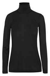Missoni Wool And Silk Blend Turtleneck Top Black