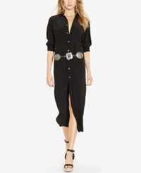 Polo Ralph Lauren Maxi Shirtdress Black