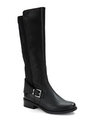 Me Too Dallas Leather Buckle Boots Black