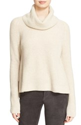 Alice Olivia Women's 'Nettie' Rib Knit Wool And Cashmere Turtleneck