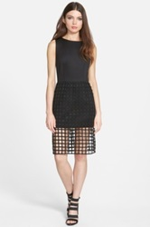 J.O.A. Skirt Overlay Sleeveless Dress Black