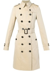 Burberry Belted Trench Coat Nude And Neutrals